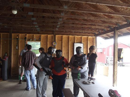 Wolverine Paintball Park: Getting geared up