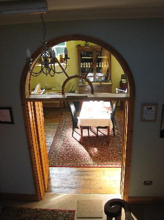 St. Cuthbert's House: Looking dowstairs into the breakfast room