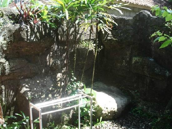 Dewi Sri Bungalows : open air bathroom