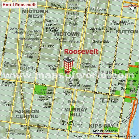 The Roosevelt Hotel: Location
