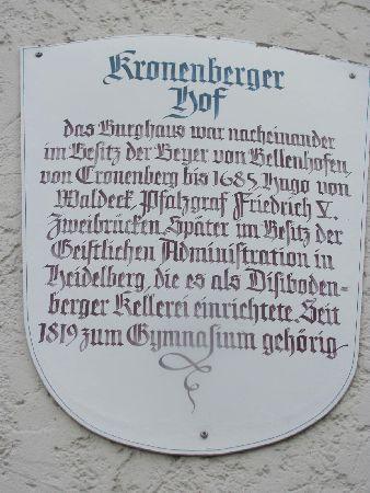 Ehem. Kloster hl. Wolfgang: plaque