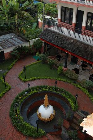 Thamel Eco Resort: The courtyard.