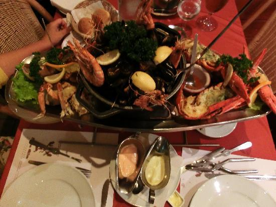 Orly Superior Hotel : less than 60euro, came with fries and a big pot of seafood soup