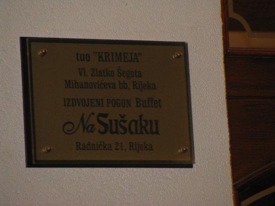 Restoran Na Susaku: utile indirizzo