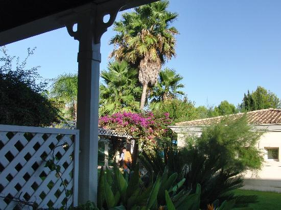 Lindner Golf & Wellness Resort: Blick vom Zimmer in den Garten