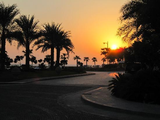 Jumeirah Zabeel Saray: Beautiful sunset at front of hotel