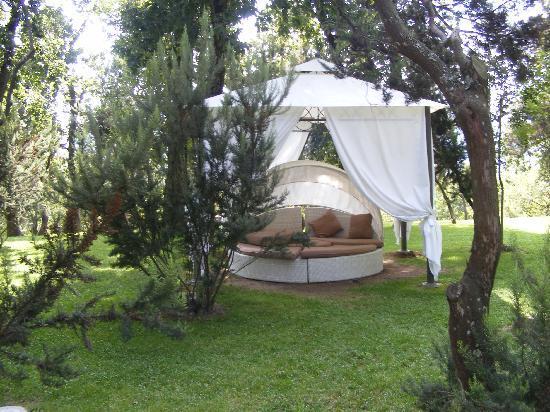 Grand Hotel Nastro Azzurro & Occhio Marino Resort: Day loungers in garden