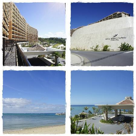 คาฟู รีสอร์ท ฟุชาคุ คอนโด โฮเต็ล: outside hotel and the beach opposite to the hotel