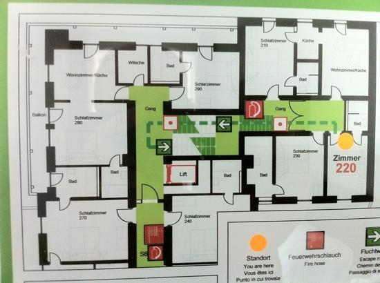 Hotel Wetterstein: Room layout