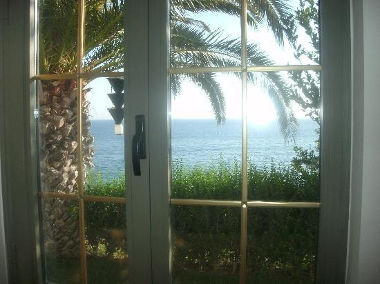 Palm Wings Beach Resort: view from living room window