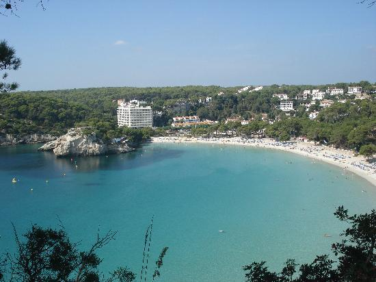 Galdana Gardens Apartments: Sight from one of the view points in a way to Cala Mitjana beach