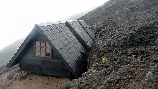 Mount Nyiragongo: The recently built huts