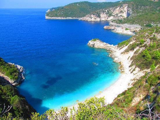 Παξοί, Ελλάδα: beach we couldn't get to!