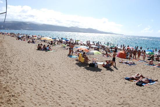 Playa de Las Canteras: Deler av Canteras stranden