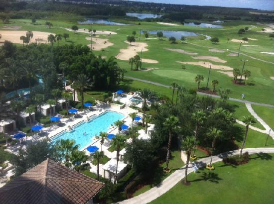 Omni Orlando Resort at Championsgate: View from my 9th floor room.