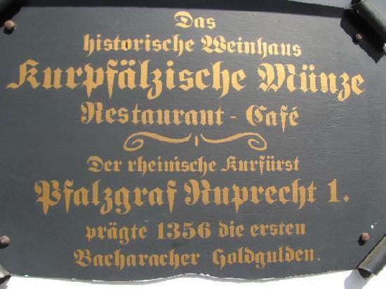 Alten Menze: plaque