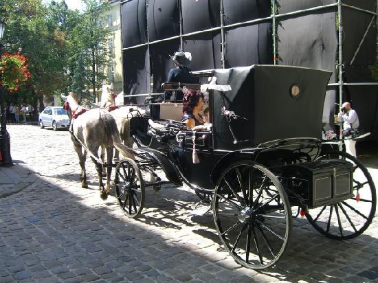 Lviv, Ukraine: La carrozza nel centro storico