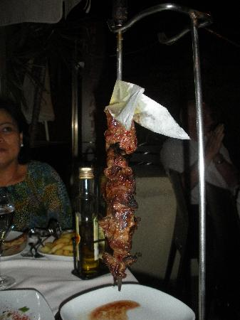Real Canoa: Beef on a skewer