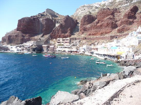 View from Katinas - Picture of Taverna Katina, Oia ...