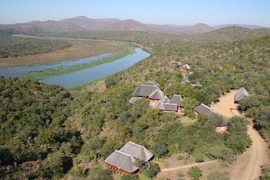 ‪‪Mvubu River Lodge‬: Aerial view‬