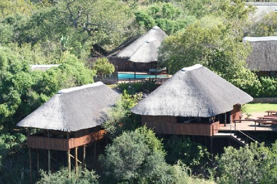 Mvubu River Lodge: Aerial view