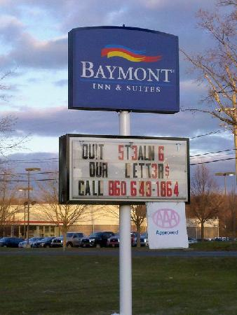 Baymont Inn & Suites Manchester - Hartford CT: This made me laugh.