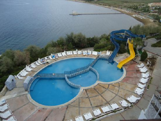 Mansion with indoor pool with diving board  Swimming Pool with Slides - Picture of Labranda Ephesus Princess ...