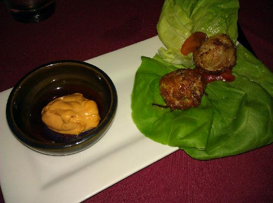 Firefly Grill and Wine Bar : Crab and Corn Fritters