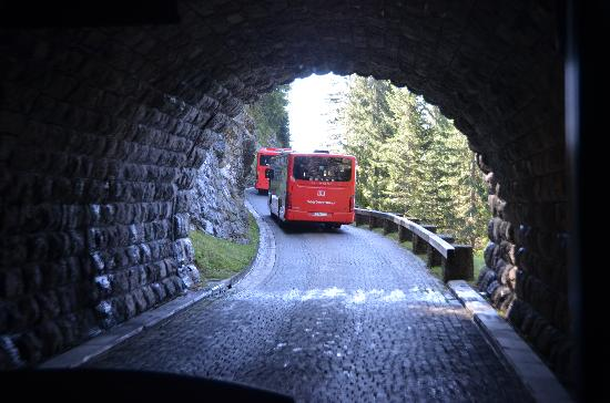 The Eagle's Nest: bus takes you through tunnel