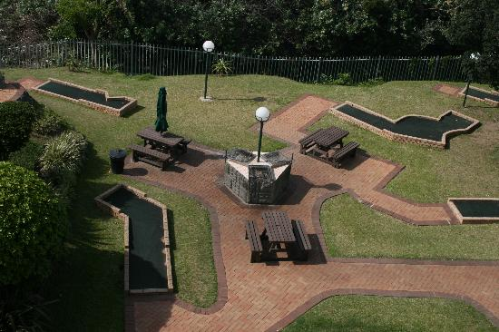 Margate, Sør-Afrika: Communial Brbecue and Putt Putt Course
