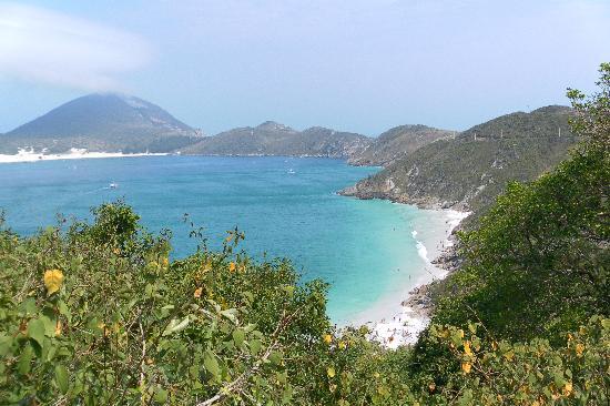 Prainhas do Pontal do Atalaia : Vista desde Pontal do Atalaia hacia la Playa