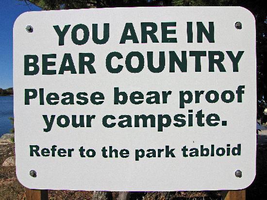 Masauga Provincial Park Beware Of Bears