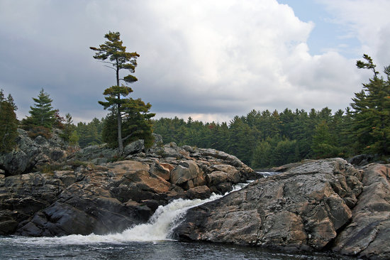 Parry Sound, Canadá: Moon River Falls