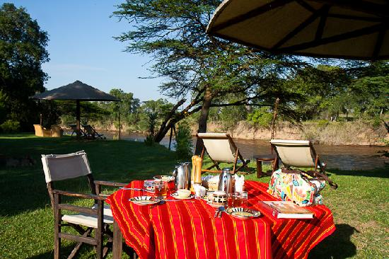 Cheetah Tented Camp: Breakfast area
