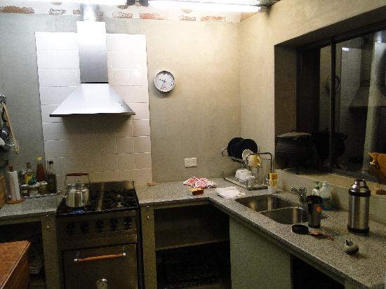 Patio Alto: la cocina en común para los huéspedes
