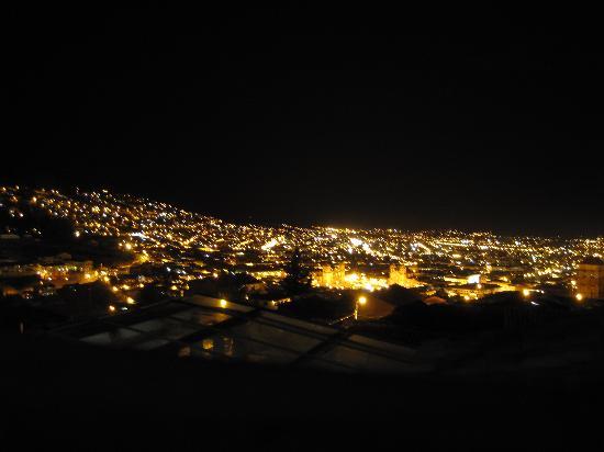 Mirador de Santa Ana: Vista desde el balcón hacia la Plaza de Armas