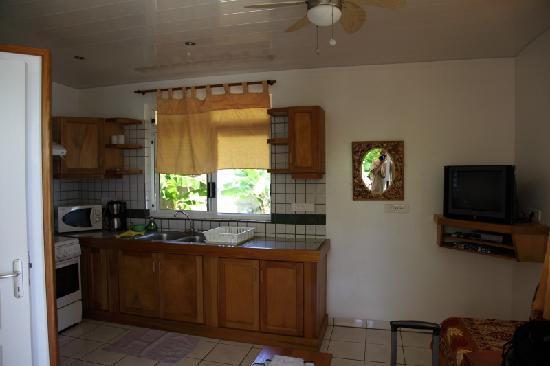 Te Fare Mihi: Wohnzimmer, Küche