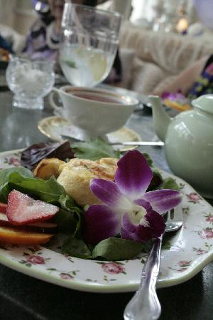 The Garden Gate Tea Room: Edible Flower and entree~ Lisette S.