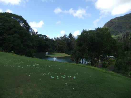 Puakea Golf Course: Par 3,with water in front