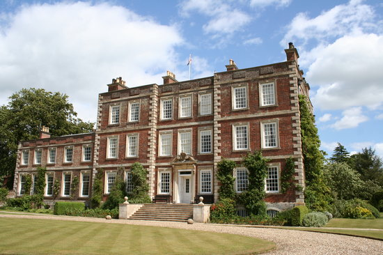 Gunby Hall and Gardens: Gunby Hall's impressive front entrance