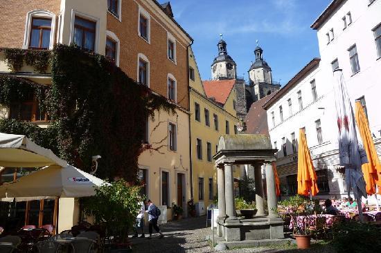 Hotel Alte Canzley: Wittenberg - im Hintergrund St. Marien, die Stadtkirche