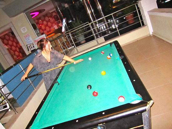 Our Hotel Pool Table By Outside Bar Picture Of Candan Apart Hotel - How to take apart a pool table