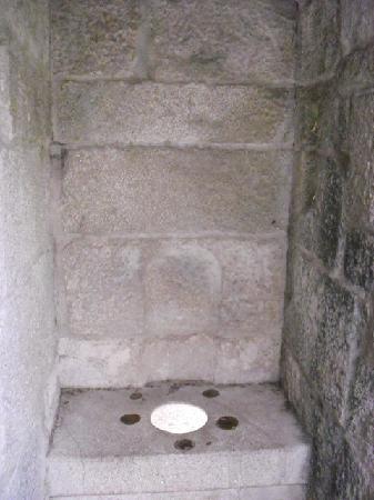 Castelo de Soutomaior: Antiguo WC