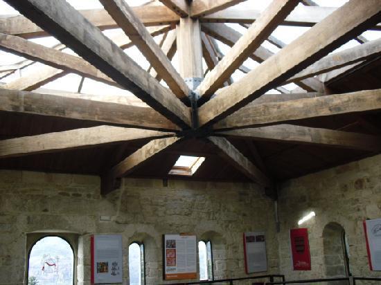 Castelo de Soutomaior: techo de una de las salas