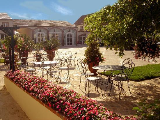 Hostellerie Domaine de Montgivroux : patio