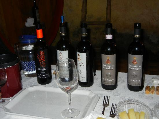 Franco Wine Tour Experience: Sampling of wines (Brunello) from Collemattoni