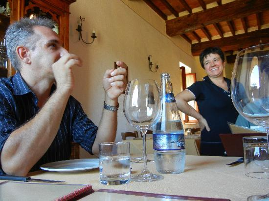 Franco Wine Tour Experience: I couldn't follow, but Franco was having fun with the waitress