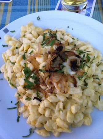 Gasthof Zum Mohren: Käsespätzle, auch mit Zwiebelrostbraten oder Filet sehr lecker!
