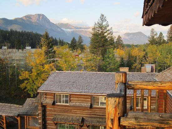 Rafter Six Ranch Resort: Back of Lodge and Rockies