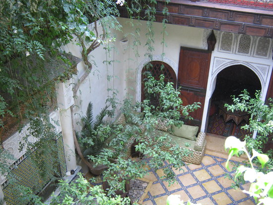 Riad Samsara: Samsara's lovely patio
